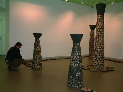 Clapés, Miró i Hagemann a la Sala d'Art.
