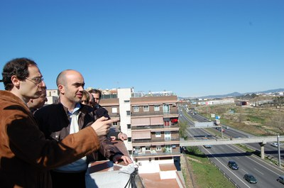 Daniel Sirera i Dolors Nadal visiten Ripollet.