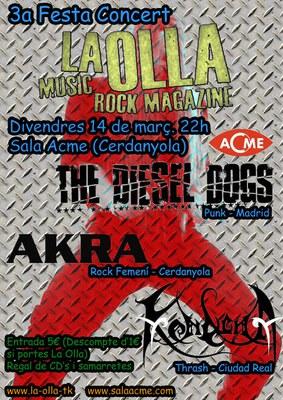 La Olla Music Rock Magazine celebra el tercer aniversari amb un concert.