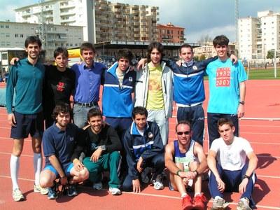 Atletes del RUA al campionat d'Espanya Juvenil de pista coberta i al Ekiden de Palafrugell.