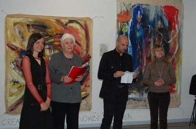 Stella Hagemann i Enric Casasses al Centre Cultural.
