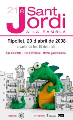 20 d'abril, Sant Jordi a la Rambla.