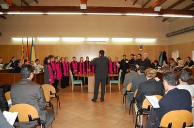 Ple extraordinari del 18 d'abril de 2008Ripollet aprova el seu himne oficial.