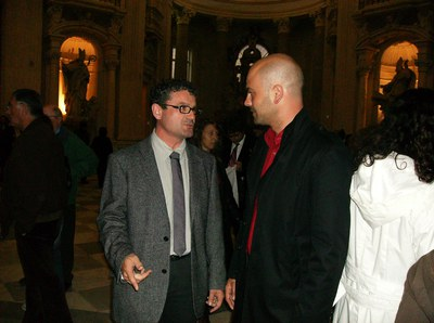 El regidor de Cultura, Ferran Tornel, visita Torí en una viatge de la Diputació de Barcelona.