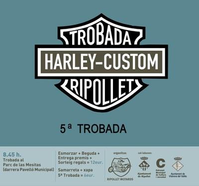 Se celebra la 5a trobada de Harley a Ripollet.