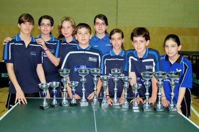El Club Tennis Taula Ripollet lidera el medaller català.
