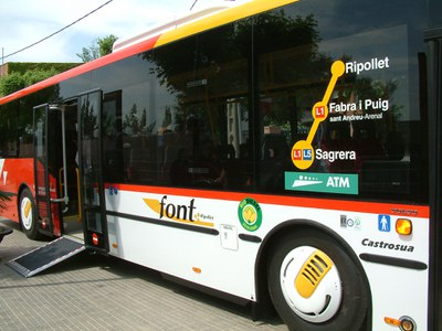 El servei d'Autobusos Font manté la normalitat..