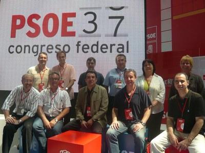 L'alcalde de Ripollet, Juan Parralejo, assisteix de delegat al 37è Congrés del PSOE.