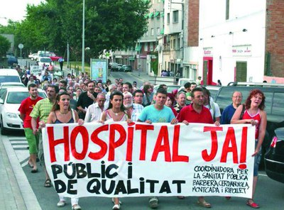 La Coordinadora per la Sanitat Pública i de Qualitat es torna a manifestar.