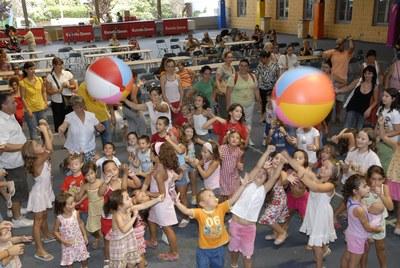FESTA MAJOR 2008: Tallers infantils i jocs gegants amb MimaJocs.