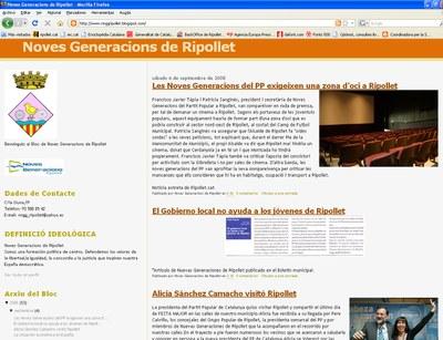 Noves Generacions de Ripollet estrenen blog.