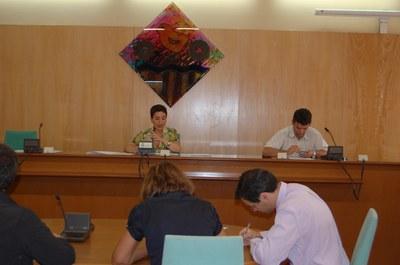 Sessió extraordinària del Ple Municipal del 10 de setembre de 2008.