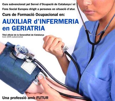 Creu Roja presenta un nou curs d'auxiliar d'infermeria geriàtrica.