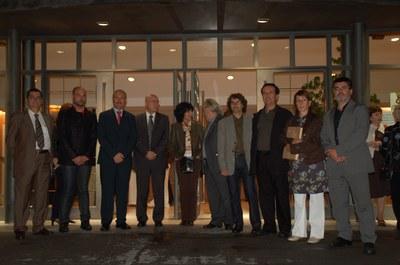 Joan Manuel Tresserras, conseller de Cultura, inaugura la temporada teatral.
