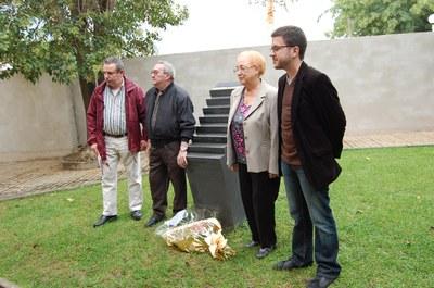 ERC homenatja als cinc ripolletencs caiguts a Mauthausen.