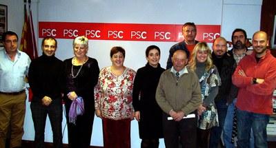 Nova executiva de l'agrupació local del PSC.
