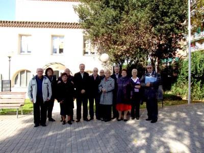 L'Alcalde de Ripollet rep la nova Junta del Casal d'Avis.