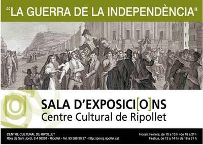 """La Sala 1 del Centre Cultural acull l'exposició """"La Guerra de la Independència""""."""