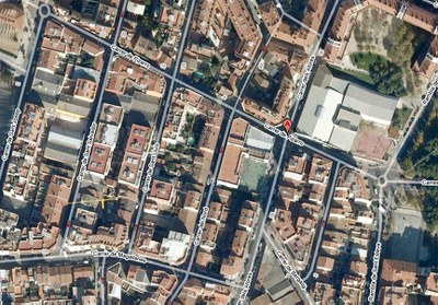 Inici de les obres del carrer de Pizarro .