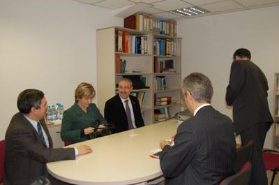 Visita institucional de la Generalitat a l'empresa Encopim de Ripollet.