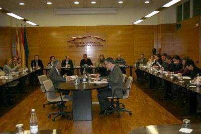 El ple del Consell Comarcal dona llum verda al pressupost pel 2009.