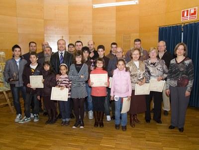 L'Agrupació Pessebristes lliura els premis del seu 24è concurs.