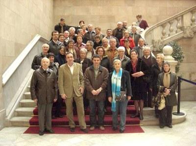 L'agrupació local de Convergència Democràtica de Catalunya visita el Parlament de Catalunya.