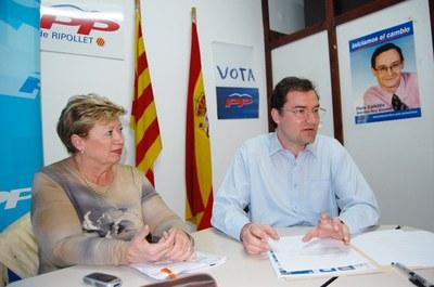 El PP de Ripollet reclama al govern més mesures per la crisi.