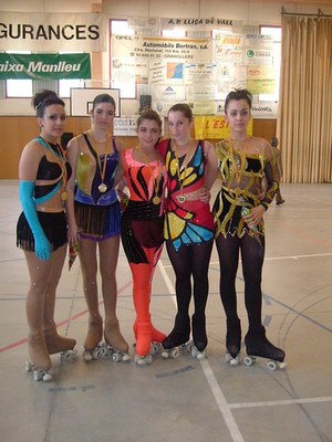 Cara i creu al Campionat de Barcelona Juvenil per les patinadores de Ripollet.