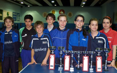 19 podis pel Club Tennis Taula Ripollet als Campionats de Catalunya.