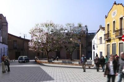 Inici de les obres de remodelació de la plaça Clos.