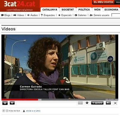 El Patronat Municipal d'Ocupació apareix en un reportatge de TV3.