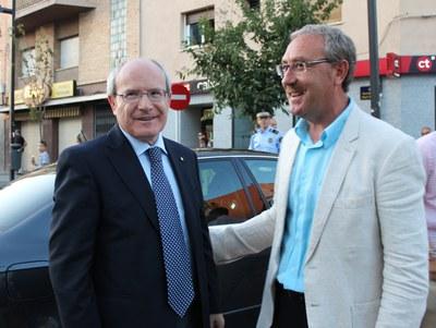 El president de la Generalitat, José Montilla, visita la Festa Major de Ripollet.