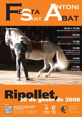 Tot a punt pel Sant Antoni Abat 2008 de Ripollet.