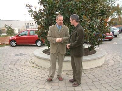 El president del Consell Comarcal, Antoni Rebolleda, visita Ripollet.