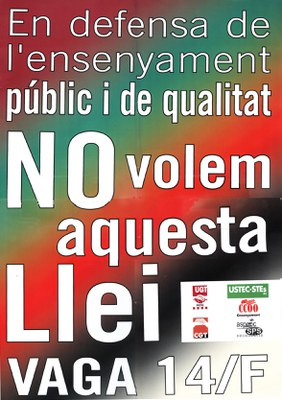 Normalitat a la jornada de vaga de l'ensenyament públic a Ripollet.