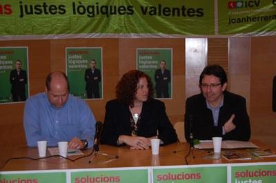 Iniciativa per Catalunya Verds presenta les seves propostes electorals al Centre Cultural.