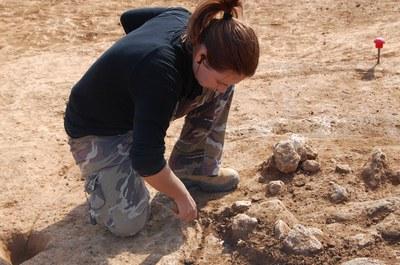 Continuen els treballs d'excavació del jaciment dels Pinetons.