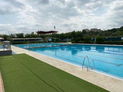 Foto de la piscina publicada al post de la queixa dels socorristes.