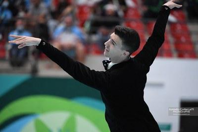 Llorenç Álvarez, durant la seva actuació. Foto: Raniero Corbelletti - World Skate - Real Federación Española de Patinaje..