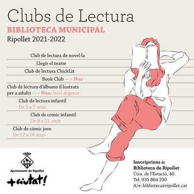 Cartell promocional dels clubs de lectura.