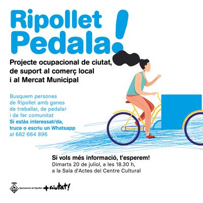 Cartell informatiu de Ripollet Pedala!.