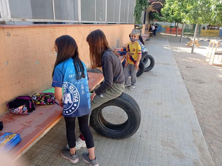 Sessió de grup a l'Escola Clavé