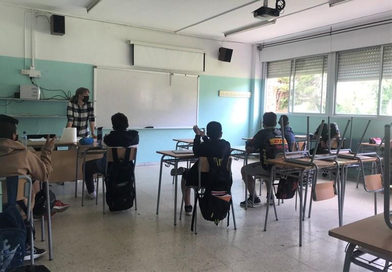 Taller d'estudi a l'Institut Lluís Companys