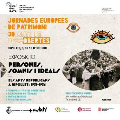 Les Jornades Europees de Patrimoni 2021 giraran al voltant dels anys republicans a Ripollet.