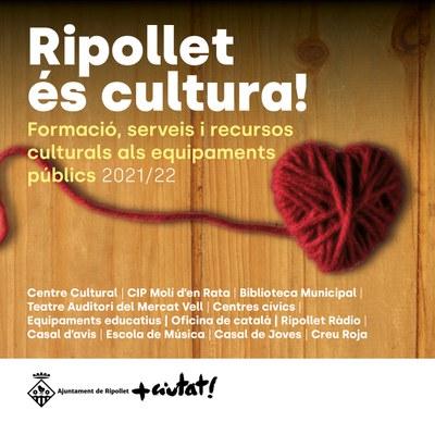 La guia 'Ripollet és cultura!' torna a recollir l'oferta local de cursos i tallers.