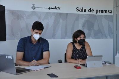 Roda de premsa de presentació del Pla Local d'Habitatge (20/07/21).