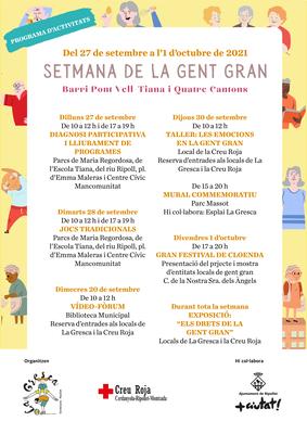 Programa Setmana de la Gent Gran 2021