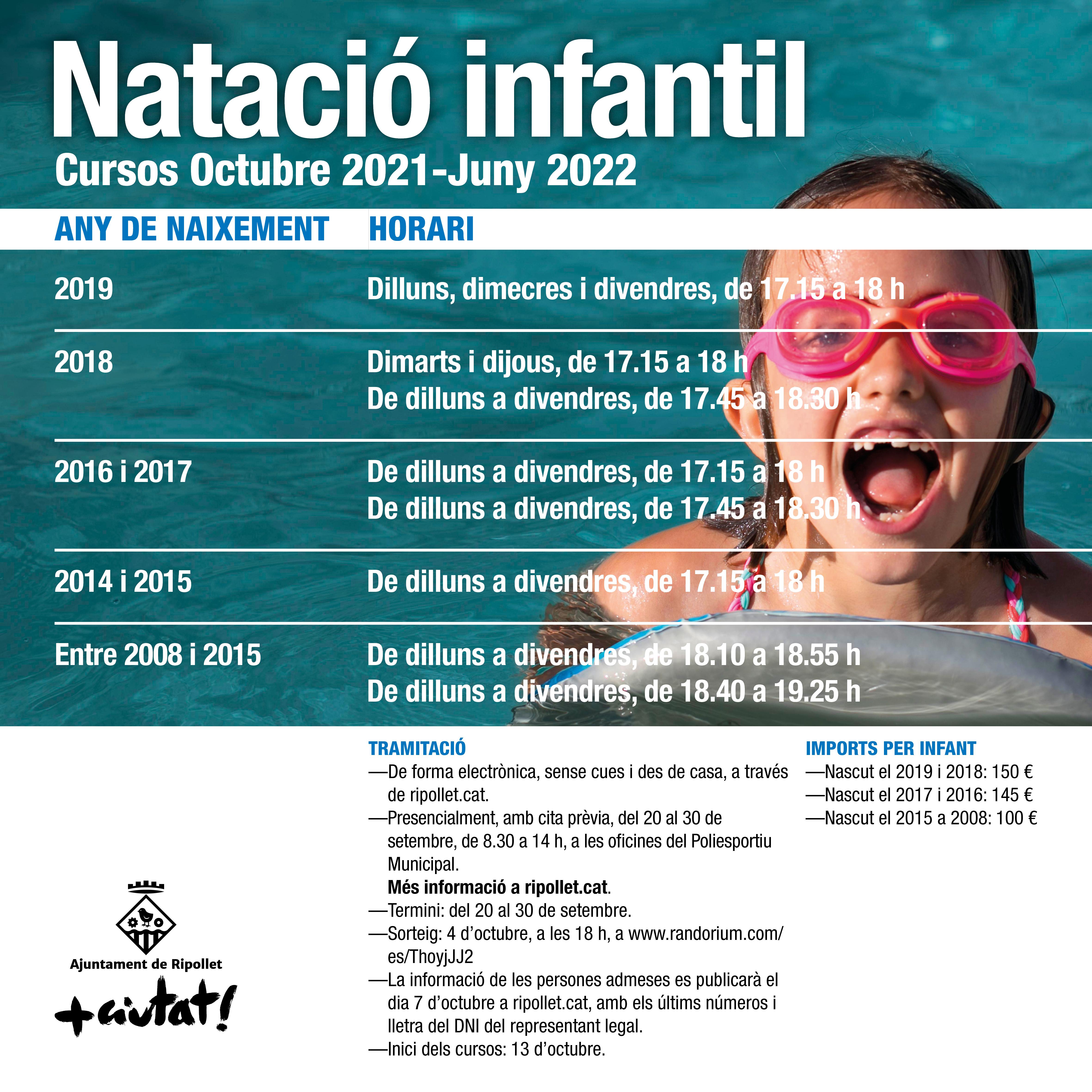 Natació infantil curs 2021-2022