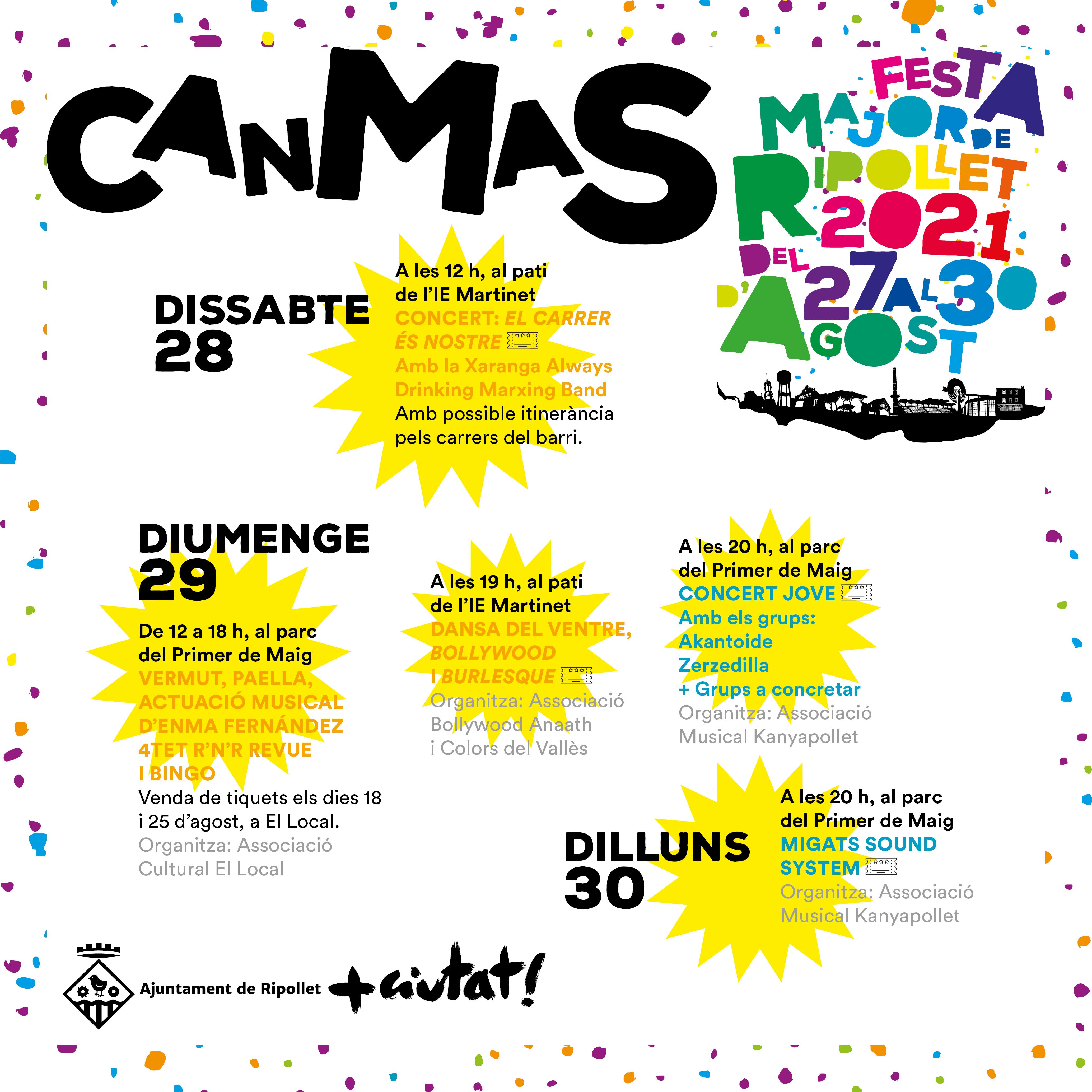 Actes destacats de la Festa Major 2021 a Can Mas
